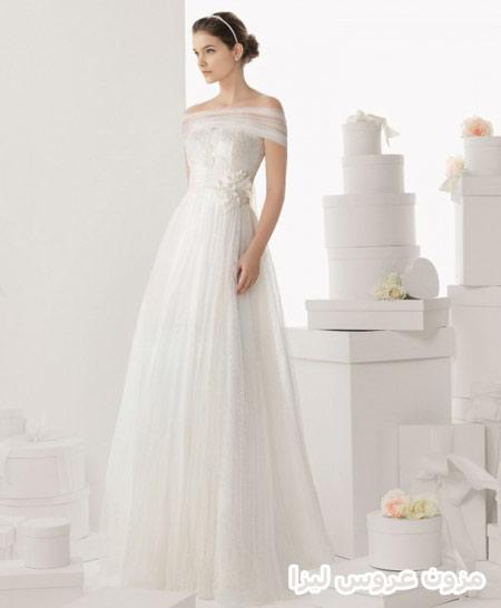 لباس عروس آستین کوتاه