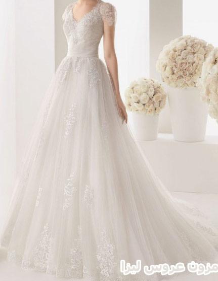 لباس عروس با دامن کم پف